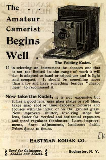 Kodak – The Amateur Camerist Begins Well (1894)