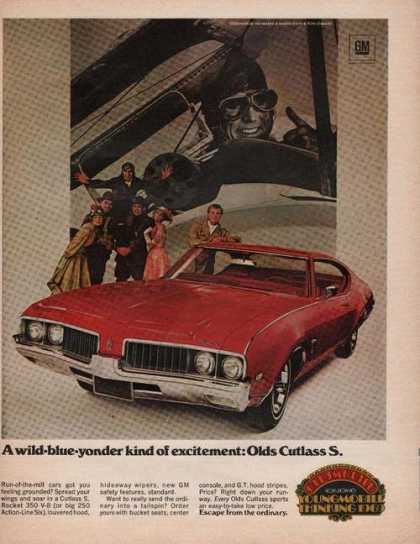 Oldsmobile Red Cutlass S Car (1969)
