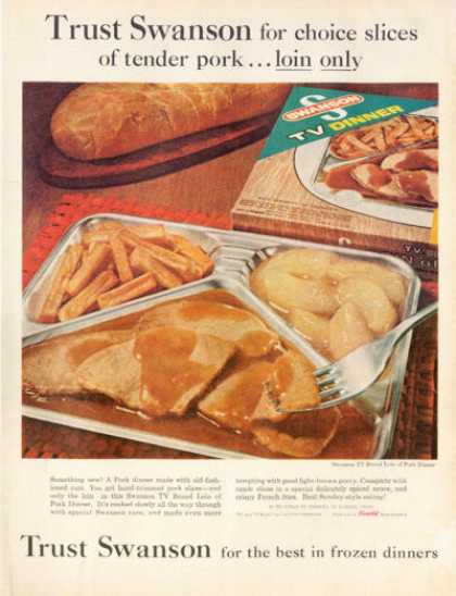 Swanson Tv Pork Frozen Food Dinner (1962)