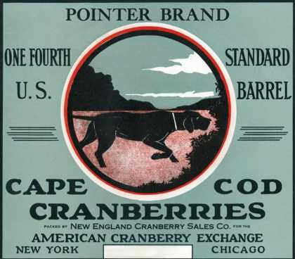 Cape Cod, Massachusetts – Pointer Brand Cranberry Label