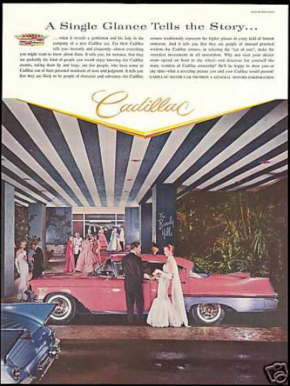 Cadillac Car Photo Beverly Hills Hotel (1957)