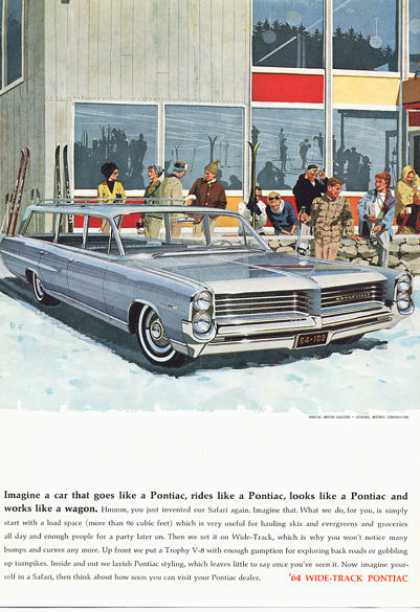 Pontiac Bonneville Station Wagon Snow Ski Lodge (1964)
