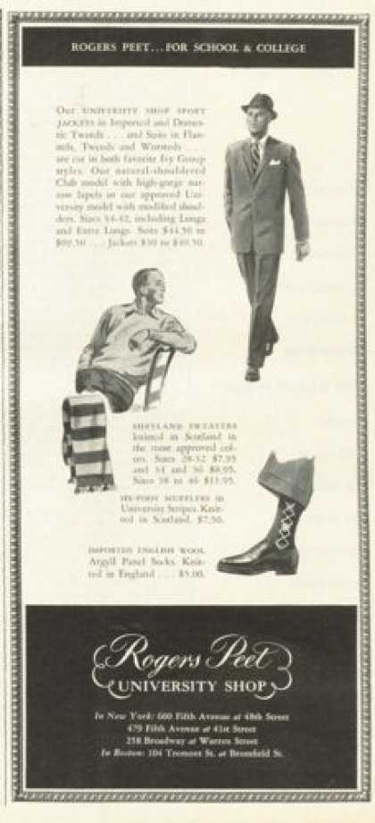 Rogers Peet University Shop Fashion (1955)