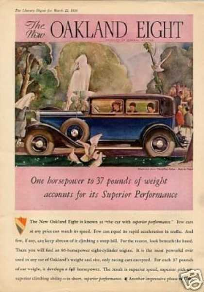 Oakland 2-door Sedan Color Ad 2 Page (1930)
