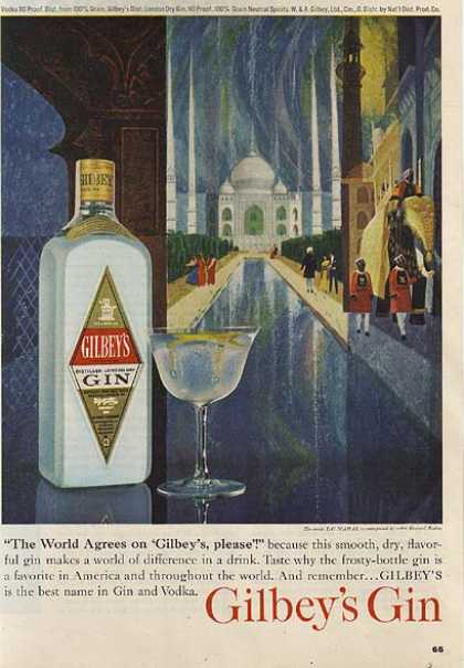 Gilbey's Distilled London Dry Gin (1963)