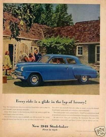 "Studebaker Car Ad ""Every Ride Is a Glide... (1948)"