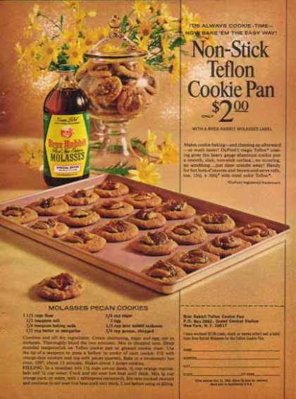 Brer Rabbit Molasses – Molasses Pecan Cookies Recipe (1965)