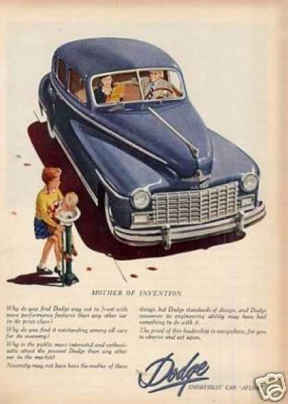 "Dodge Car Ad ""Mother of Invention... (1948)"