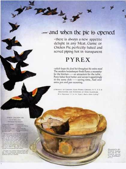Pyrex, Pies Four and Twenty Blackbirds, USA (1920)