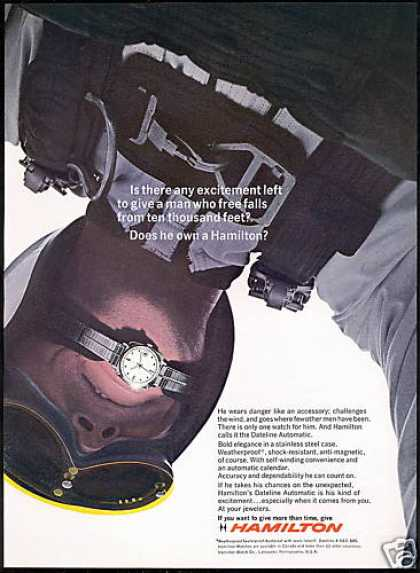 Hamilton Dateline Watch Skydiver (1967)