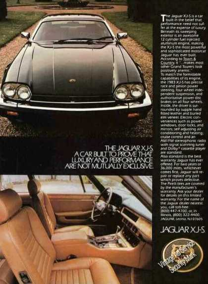 "Jaguar Xj-s Photos ""Luxury & Performance"" Car (1983)"
