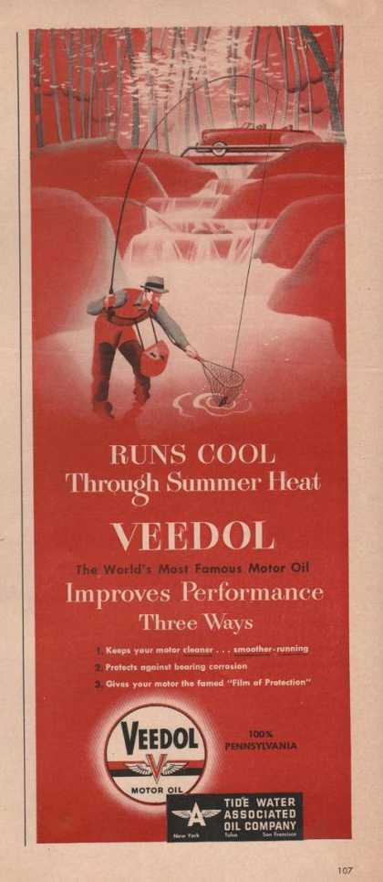 Veedol Car Motor Oil Runs Cool (1949)