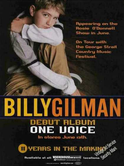 "Billy Gilman Photo Debut Album ""One Voice"" (2000)"
