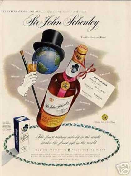 Sir John Schenley Whiskey (1951)