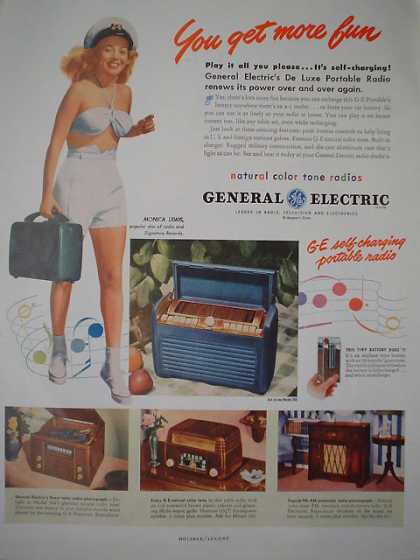 General Electric Portable radios Monica Lewis (1947)