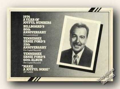 Tennessee Ernie Ford Photo Music Promo (1974)