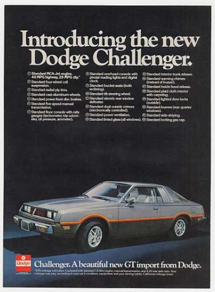 '77 1978 Dodge Challenger New GT Import (1977)
