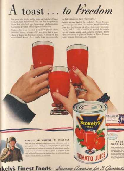 Stokely – Van Camp's Stokely's Tomato Juice (1942)