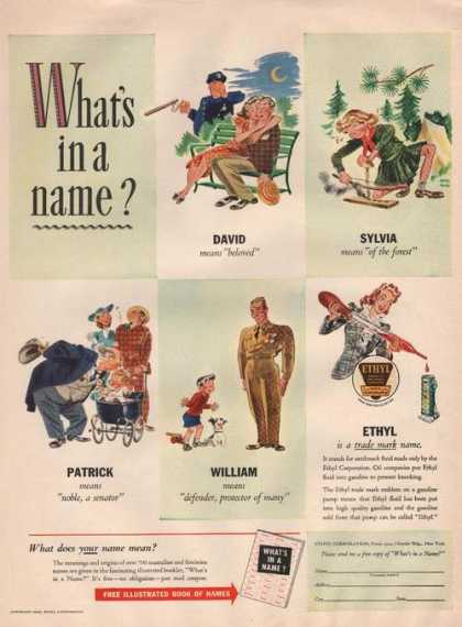 Ethyl Is a Trade Mark Name Cartoon (1942)