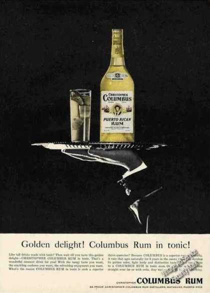 Christopher Columbus Rum From Puerto Rico (1955)