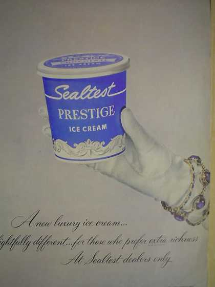Sealtest Prestige Ice Cream White glove theme (1952)
