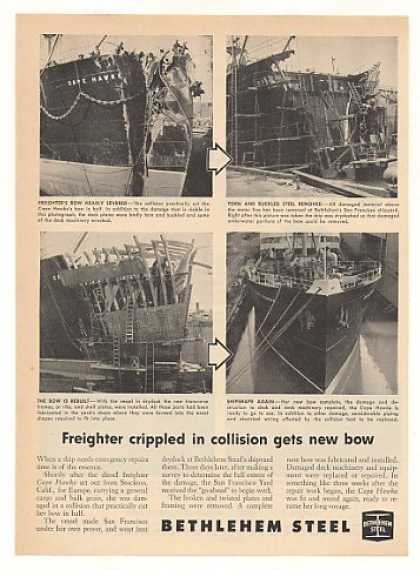 '53 Cape Hawke Freighter Ship Repair Bethlehem Steel (1953)