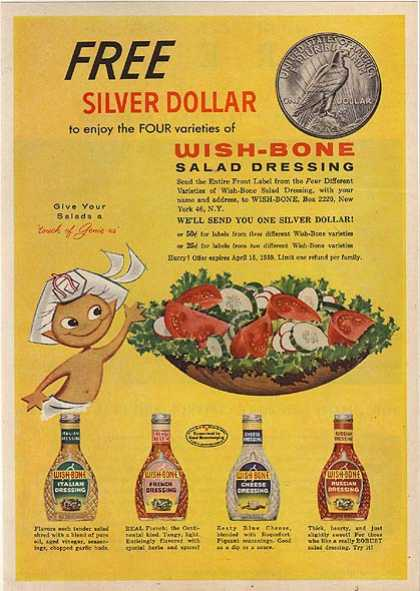 Wishbone's Wish-Bone Salad Dressing (1959)