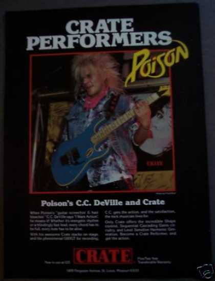 Poison C. C. Deville Crate Amps Music (1988)