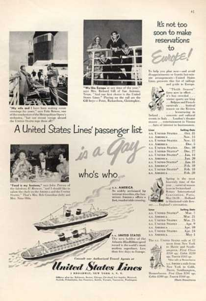 United States Lines America Cruise Ship (1952)