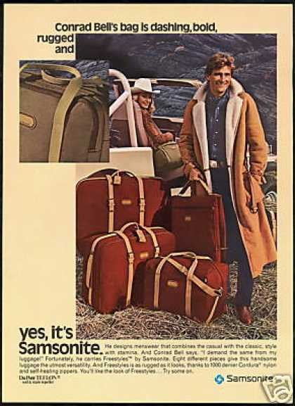 Conrad Bell Samsonite Freestyle Luggage (1981)