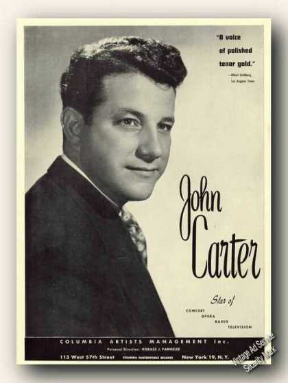 John Carter Photo Opera Ad Music (1953)
