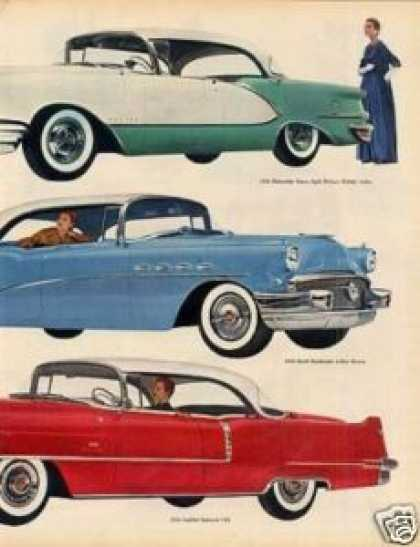 General Motors Cars Ad 2 Page (1956)