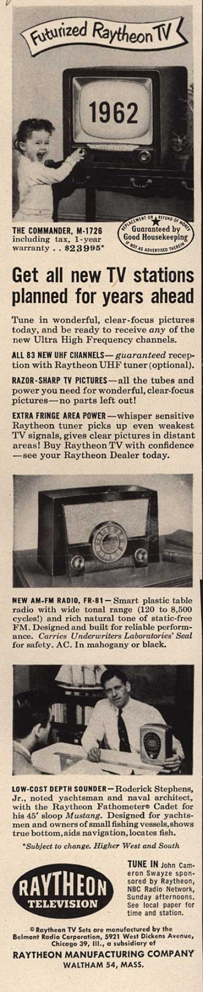 Raytheon Manufacturing Company's Various – Get all new TV stations planned for years ahead (1952)