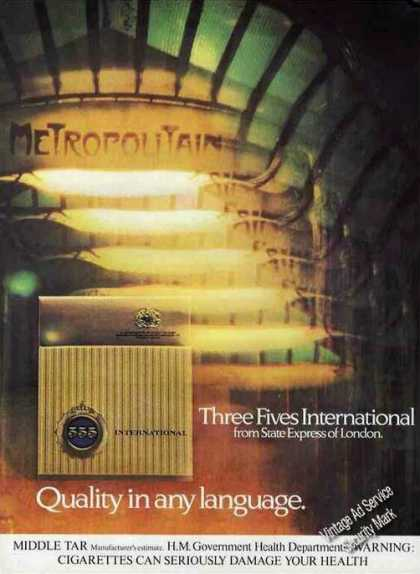 Three Fives International Cigarettes Uk (1978)