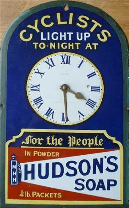 Hudson's Soap Clock Cyclists