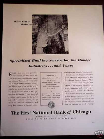 First National Bank of Chicago, Rubber Industry (1941)