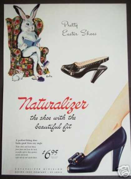 Easter Bunny Art By Bolin Naturalizer Shoes (1941)