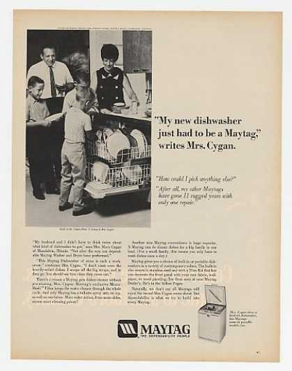 Mrs Mary Cygan Mundelein IL Maytag Dishwasher (1970)