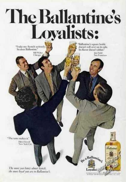 The Ballantine's Loyalists Raised Glasses (1970)