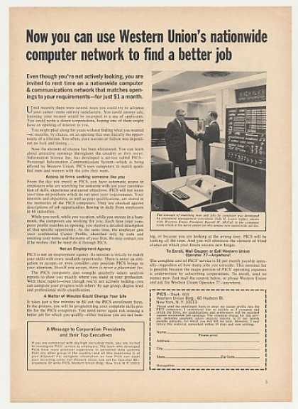 Western Union PICS Computer Job Openings (1966)
