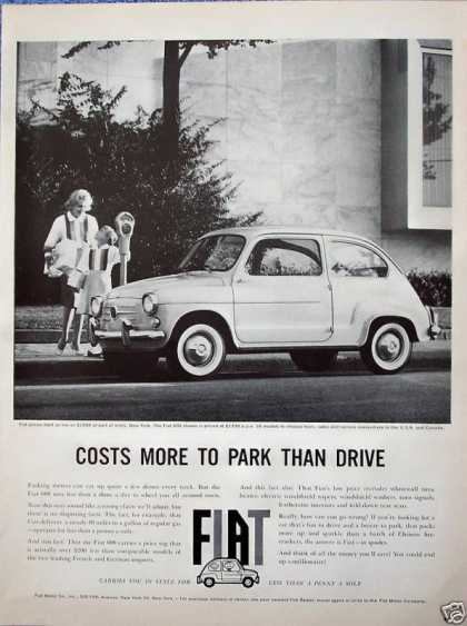 Fiat 600 Car Mother Daughter Package Parking Meter (1960)