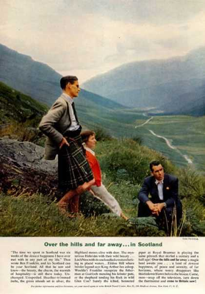 Scotland Travel Hills Kilts (1952)