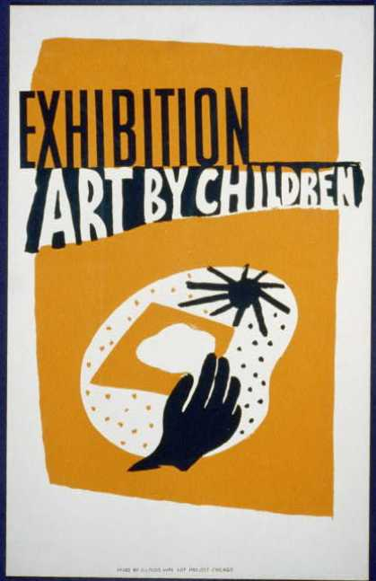 Exhibition – Art by children. (1936)