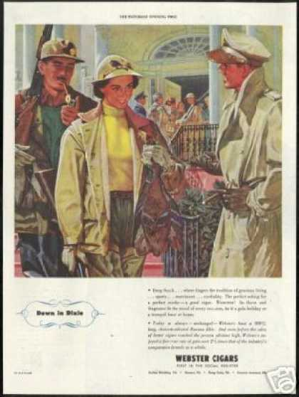 Webster Cigar Duck Hunters Military Man Art (1944)