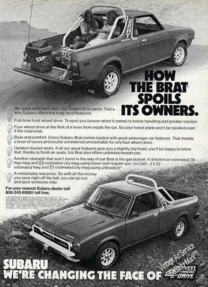 Subaru Brat Spoils Its Owners Photos (1979)