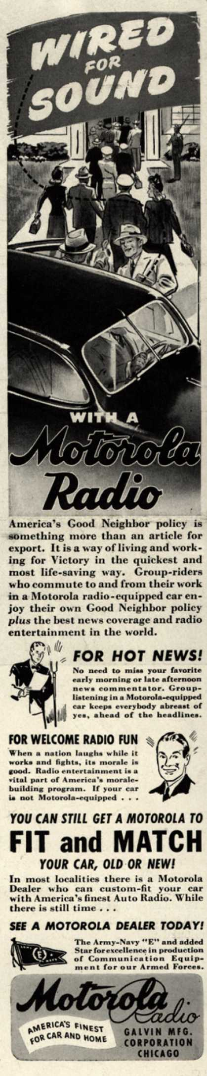 Galvin Manufacturing Corporation's Auto Radio – Wired for Sound with a Motorola Radio (1943)
