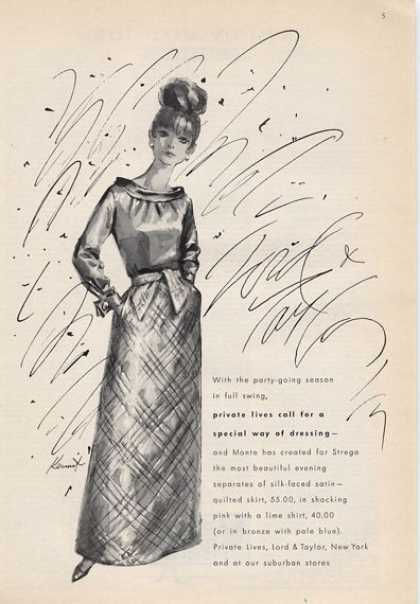 Lord &taylor Great 60's Fashion Quilted (1965)