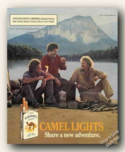 Camel Lights Men Camping Mountain Lake Adv (1986)