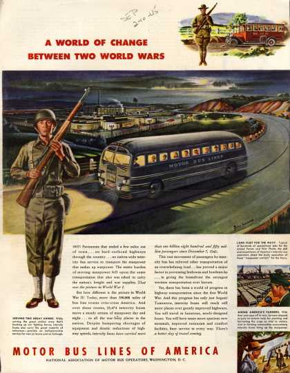 Motor Bus Lines of America – A World Of Change Between Two World Wars (1945)