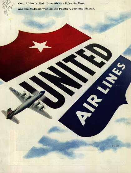 United Air Line's Main Line Airway – United Air Lines (1952)